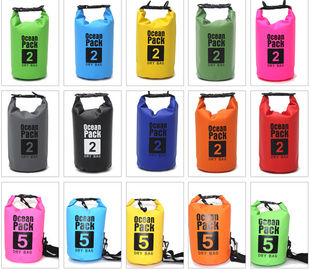 China Best Waterproof Sports Bag , 10l Dry Bag With PVC Material For Clothes factory