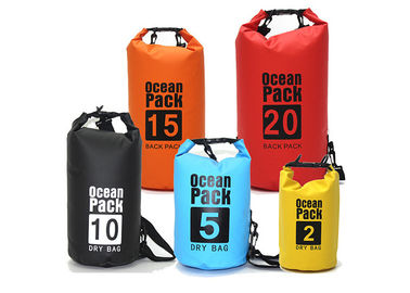 China Outdoor PVC Waterproof Dry Bag Silk Screen Printed , 30l Dry Bags For Sale factory