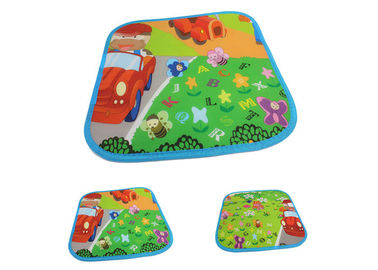 China Custom Size Cute Kids Picnic Blanket Colored With Peva Waterproof Backing distributor