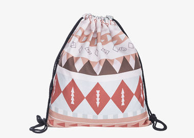 China Cloth Drawstring Bag Backpack , Drawstring Sports Backpack Stock Color factory
