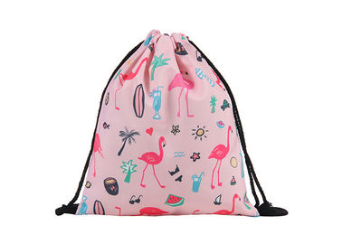 China Portable Foding Drawstring Bag Backpack , Pink Drawstring Backpack With Logo factory