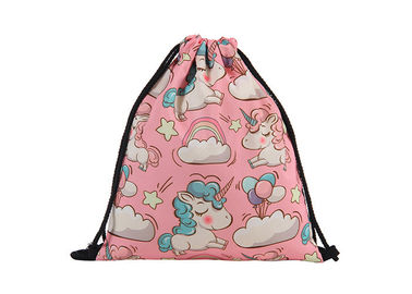 China Canvas Drawstring Bag Backpack Embroidery Printing With Your Design For Sale factory