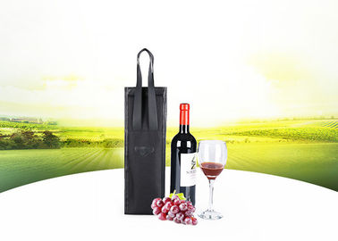 China Custom Made Best Black Vegan Leather Black  Wine Cooler Bags For Gift factory