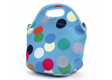 China Portable Insulated Tote Lunch Bag Blue Neoprene Lunch Bags With Should Strap For School factory