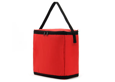 China Custom Logo Waterproof Lunch Containers , Adult Lunch Bag Red Color distributor