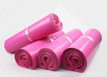 China Cheap Packaging Materials Pink Plastic Mailing Bags For Posting Parcels factory