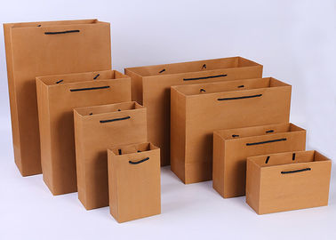 China Portable Brown Kraft Paper Gift Bags , Gift Kraft Paper Shopping Bags factory