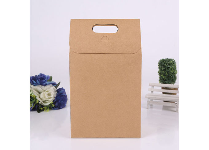Colored Brown Kraft Paper Gift Bags With Handles , Large Christmas Gift Bags