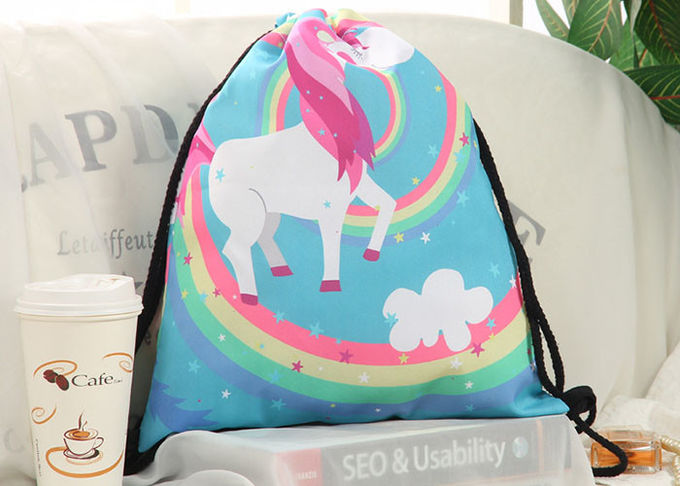 Canvas Drawstring Bag Backpack Embroidery Printing With Your Design For Sale